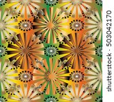 floral colorful vector seamless ...   Shutterstock .eps vector #503042170
