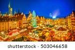 traditional christmas market in ... | Shutterstock . vector #503046658