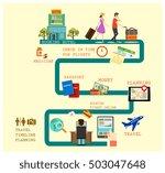 travel steps planning concept... | Shutterstock .eps vector #503047648