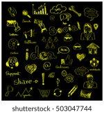 social media design elements... | Shutterstock .eps vector #503047744