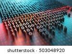 3d illustration of a laser...   Shutterstock . vector #503048920