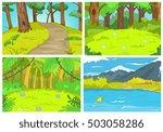 hand drawn vector cartoon set...   Shutterstock .eps vector #503058286