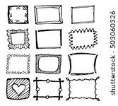 hand drawn rectangle frames set.... | Shutterstock .eps vector #503060326