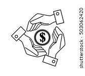 hands save the money dollar icon | Shutterstock .eps vector #503062420