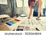 design studio architect... | Shutterstock . vector #503064844