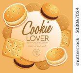 cookie lover elements   vector... | Shutterstock .eps vector #503067034