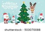 happy christmas companions. ... | Shutterstock .eps vector #503070088