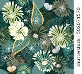 abstract flower seamless... | Shutterstock .eps vector #503071570
