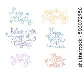 christmas lettering collection... | Shutterstock .eps vector #503072956