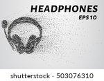 headphones from particles.... | Shutterstock .eps vector #503076310