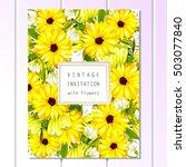 romantic invitation. wedding ... | Shutterstock . vector #503077840