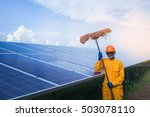 solar power cleaning solar power | Shutterstock . vector #503078110
