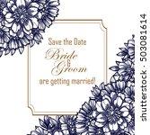 romantic invitation. wedding ... | Shutterstock .eps vector #503081614