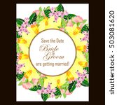 romantic invitation. wedding ... | Shutterstock .eps vector #503081620
