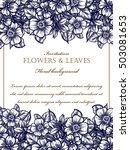 romantic invitation. wedding ... | Shutterstock .eps vector #503081653