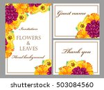 romantic invitation. wedding ... | Shutterstock .eps vector #503084560