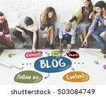 blog share follow us concept | Shutterstock . vector #503084749
