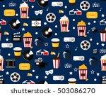 vector flat seamless texture... | Shutterstock .eps vector #503086270