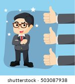great thumb up appreciation for ... | Shutterstock . vector #503087938