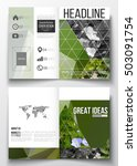 set of business templates for... | Shutterstock .eps vector #503091754