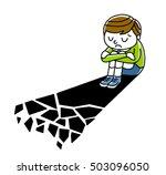 boy falls in despair | Shutterstock .eps vector #503096050