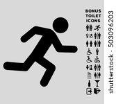 running man icon and bonus male ... | Shutterstock . vector #503096203