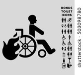 burn patient icon and bonus... | Shutterstock . vector #503098780