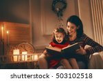 merry christmas  pretty young... | Shutterstock . vector #503102518