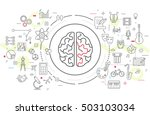 vector icons of human brain... | Shutterstock .eps vector #503103034