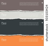 torn paper background with... | Shutterstock .eps vector #503103424