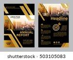 gold brochure layout design... | Shutterstock .eps vector #503105083