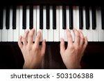 Closeup Woman's Hand Playing...