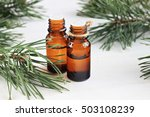 dark glass bottles with pure... | Shutterstock . vector #503108239