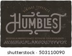 vintage grunge font with dirty... | Shutterstock .eps vector #503110090