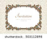 vintage card with diamond... | Shutterstock .eps vector #503112898