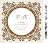 vintage gold ornamental frame ... | Shutterstock .eps vector #503112904