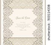 vintage save the date card with ... | Shutterstock .eps vector #503114338