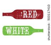 vintage wine grunge effect... | Shutterstock .eps vector #503117410