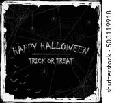abstract halloween background... | Shutterstock .eps vector #503119918