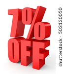 discount 7 percent off. 3d... | Shutterstock . vector #503120050