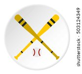 baseball bat and ball icon.... | Shutterstock .eps vector #503124349