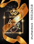 vip invitation card with... | Shutterstock .eps vector #503126218