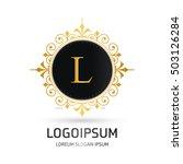 monogram design elements ... | Shutterstock .eps vector #503126284