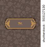 thai art pattern on brown... | Shutterstock .eps vector #503127130