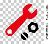 intensive red and black wrench... | Shutterstock .eps vector #503127388