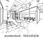 interior outline sketch drawing ... | Shutterstock .eps vector #503130328