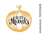 pumpkin vector illustration... | Shutterstock .eps vector #503130628