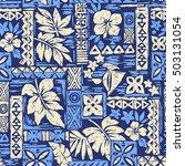 leaf illustration pattern | Shutterstock .eps vector #503131054