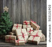 vintage packages and christmas...   Shutterstock . vector #503131903