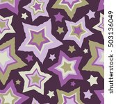 seamless vector background with ... | Shutterstock .eps vector #503136049